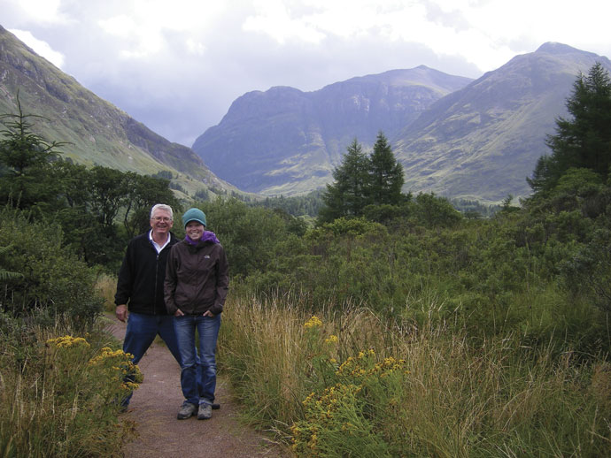 Heather Cleland and her father Hostelling International Scotland