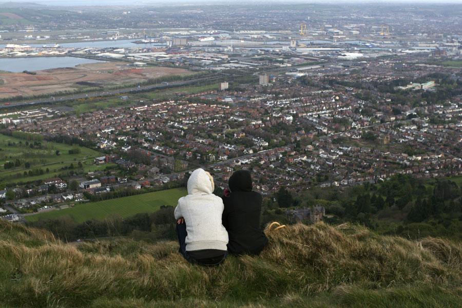 Belfast Ireland hilltop view