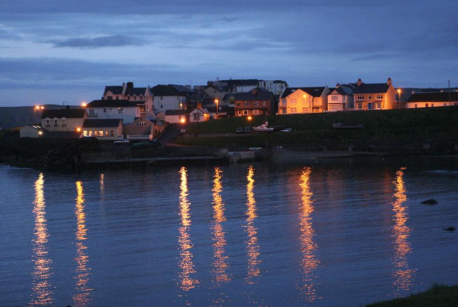 Evening on the shore of Antrim Ireland